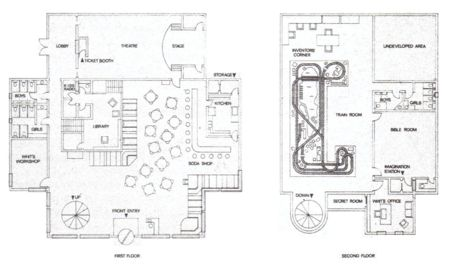 A floor plan released in The Complete Guide.